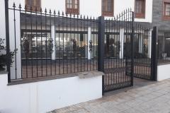 rejas y puerta