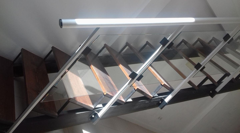 Barandas con cristal precios sin competencia en lanzarote - Barandillas de cristal y madera ...